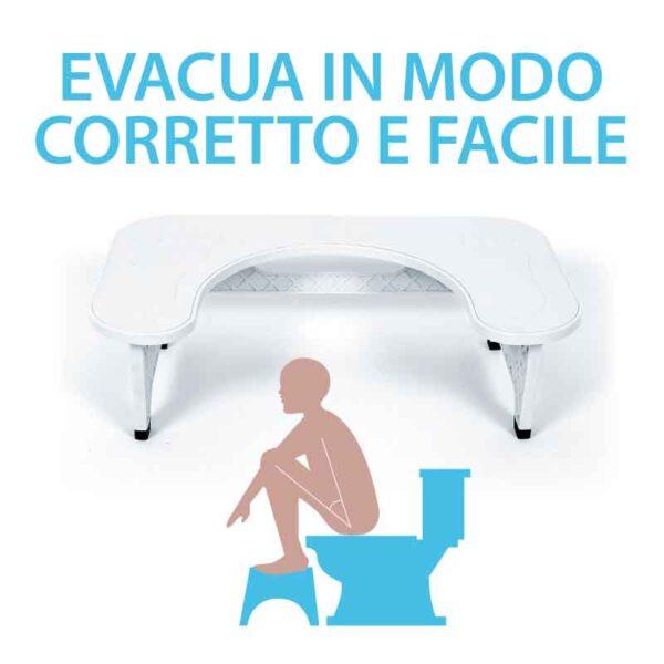 EZ GO – Gradino per WC (toilet stool) sgabello posturale da gabinetto
