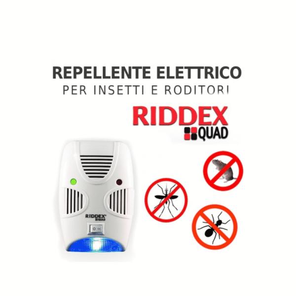 Riddex Quad – il più avanzato repellente dei parassiti