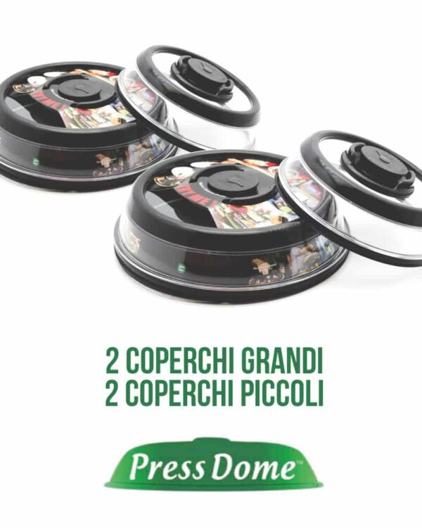 press dome coperchi professionali da cucina
